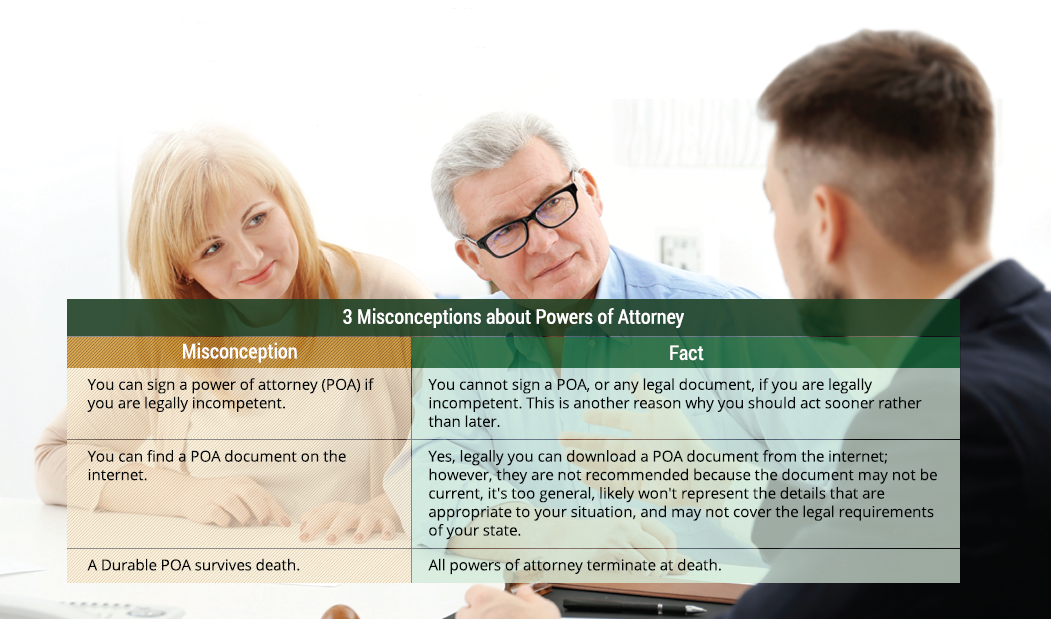 common misconceptions about Power of Attorney