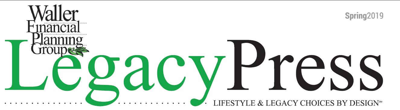 Spring 2019 Legacy Press Newsletter