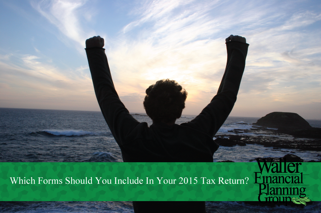 which forms to include in 2015 tax returns
